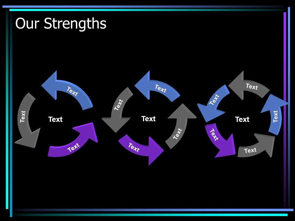 Our Strengths TextTextText Text Text Text TextTextText Text Text TextTextText Text