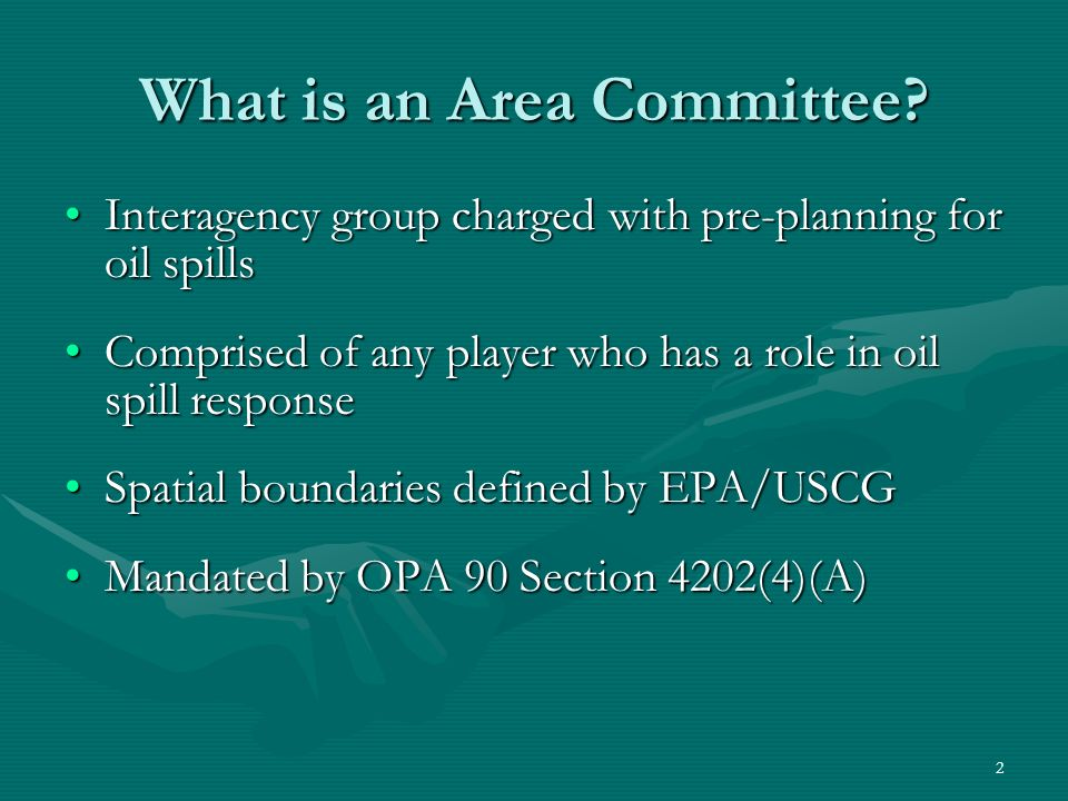 What is an Area Committee.