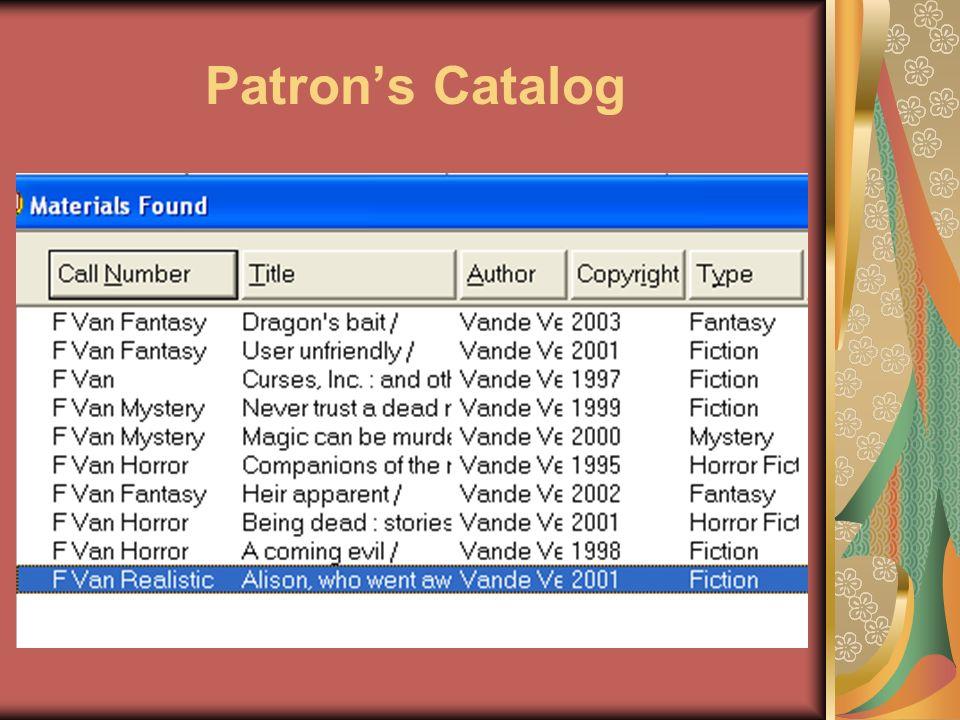 Patrons Catalog