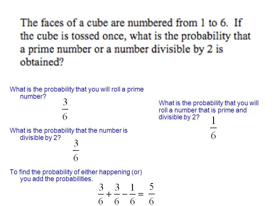 What is the probability that you will roll a prime number.