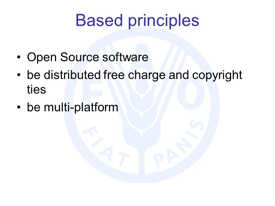 Based principles Open Source software be distributed free charge and copyright ties be multi-platform