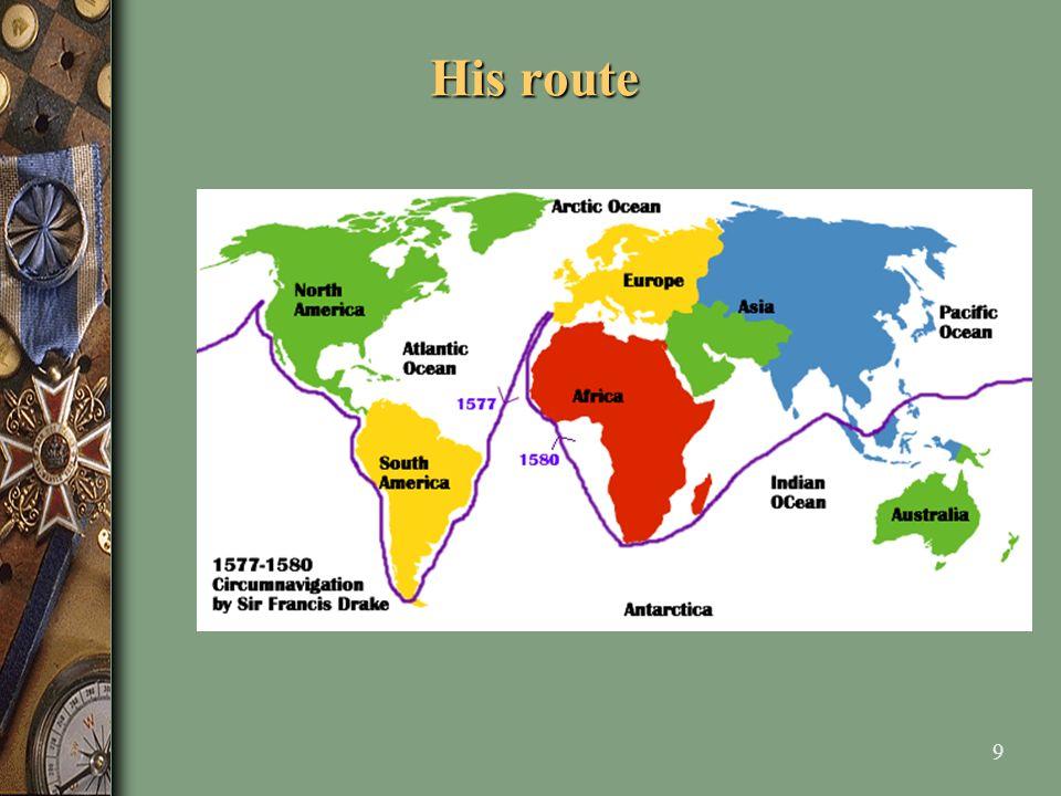 20 A description of the passage through the Strait of Magellan.