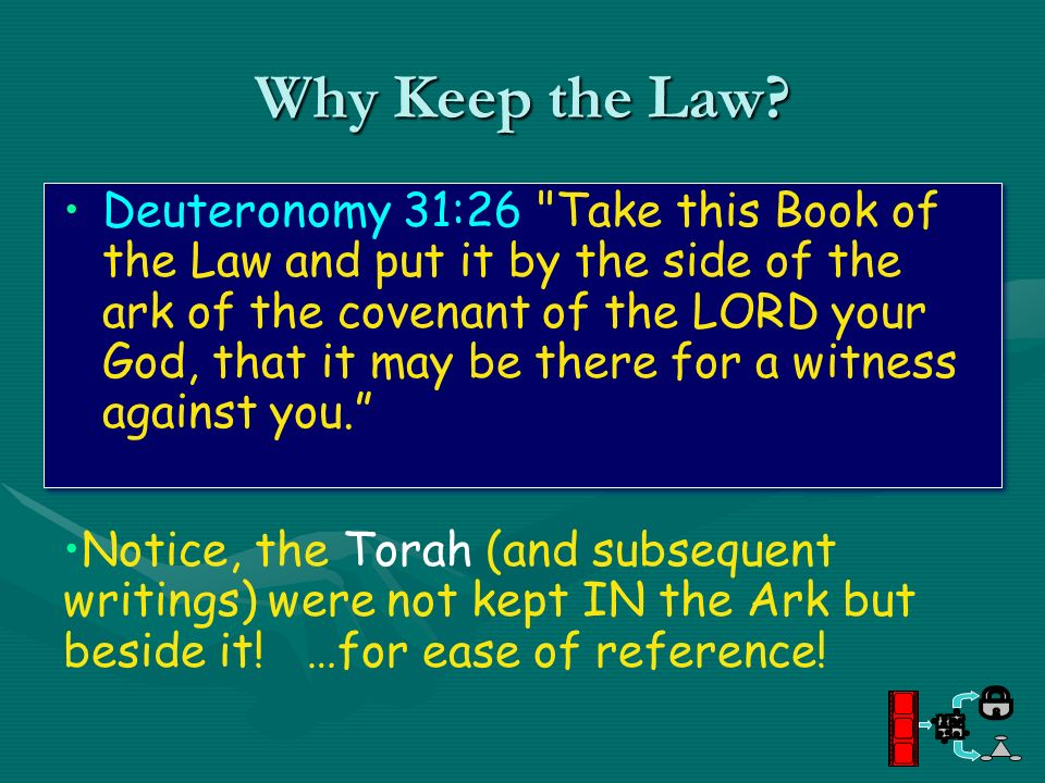 Why Keep the Law? Deuteronomy 31:26