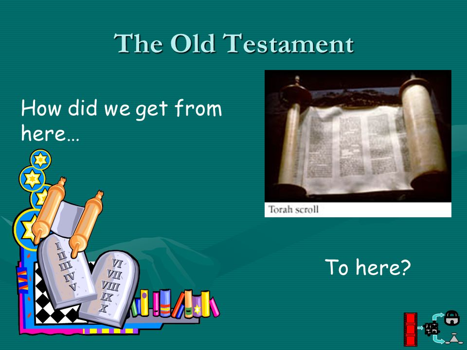 The Old Testament How did we get from here… To here?
