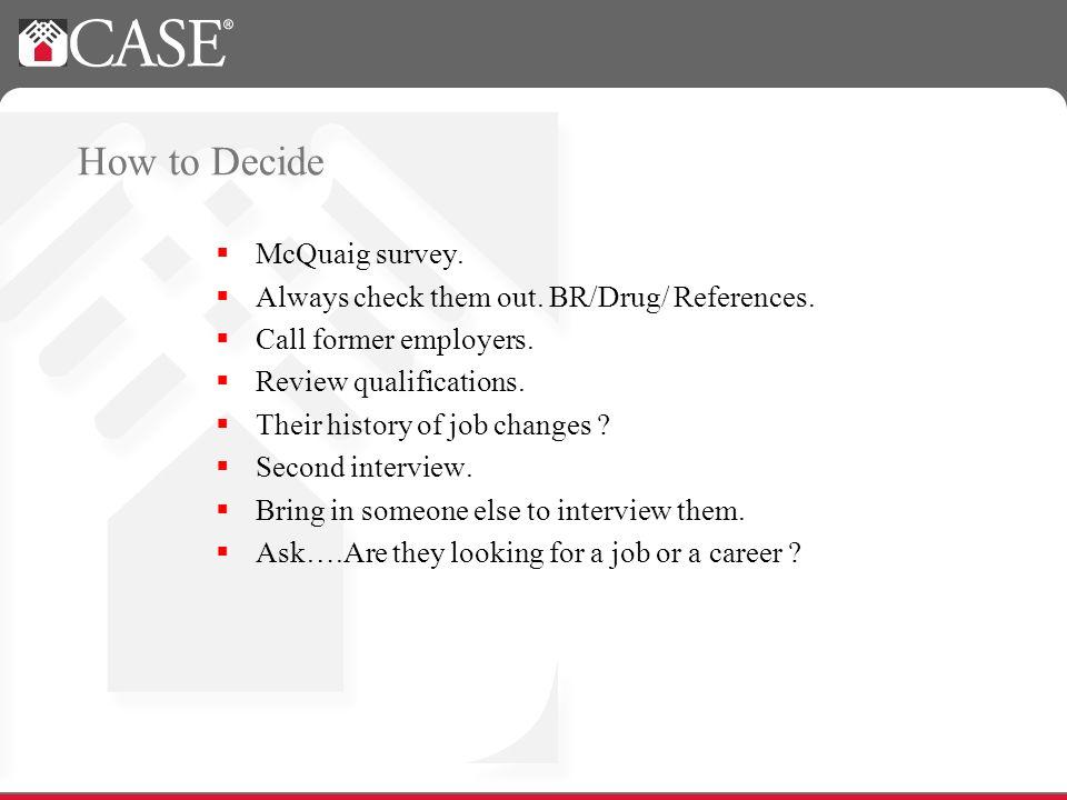 How to Decide McQuaig survey. Always check them out.