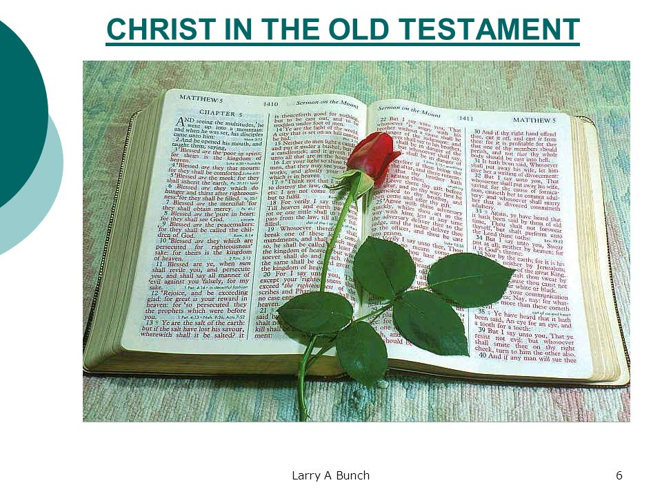Larry A Bunch6 CHRIST IN THE OLD TESTAMENT