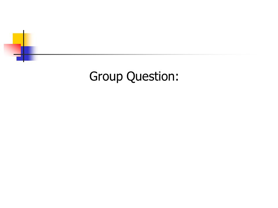 Group Question: