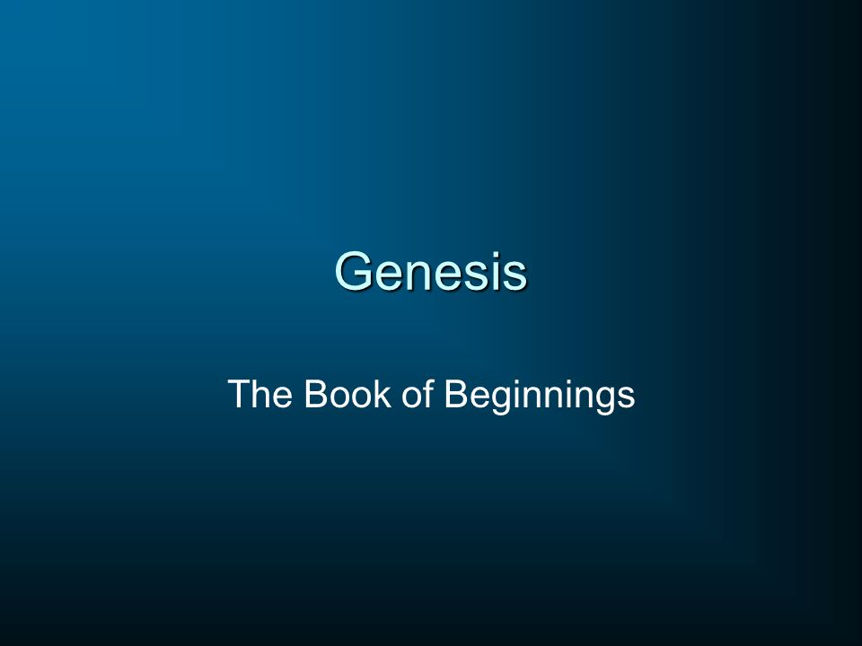 Genesis 1-11 Events Predominant – Creation – Fall – Flood – Tower of Babel Genesis 12-50 People Predominant – Abraham – Isaac – Jacob – Joseph Race as a wholeFamily of Abraham Over 2000 years250 years