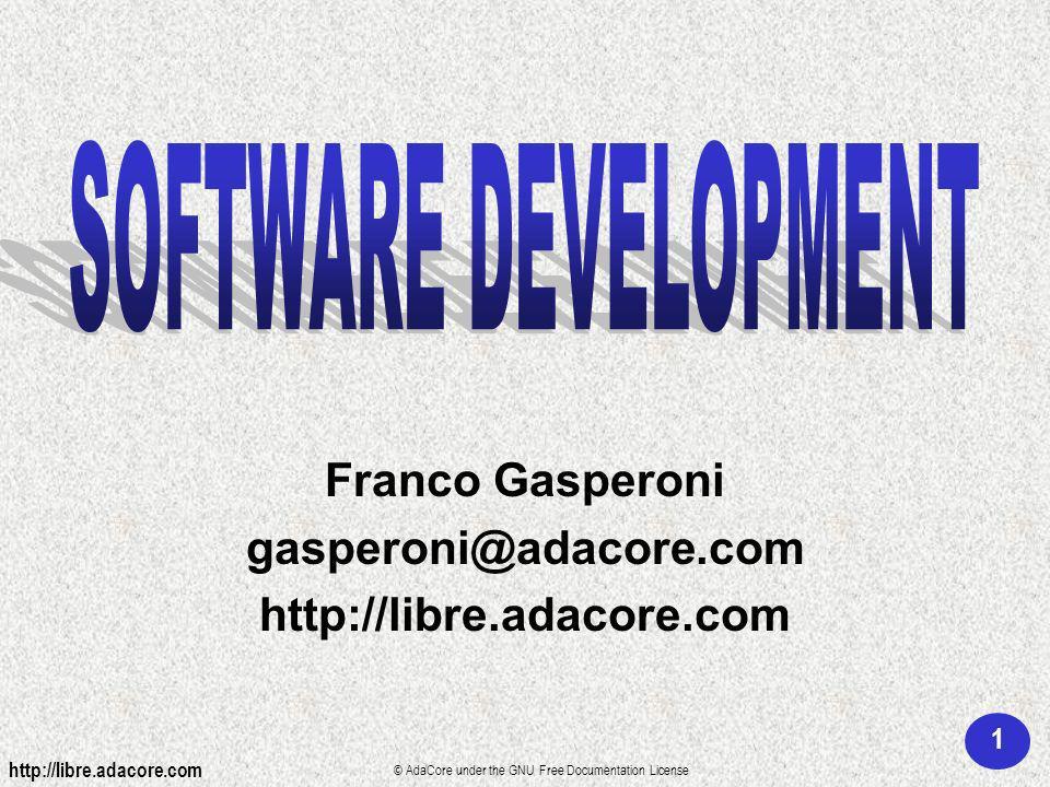 1 http://libre.adacore.com © AdaCore under the GNU Free Documentation License Franco Gasperoni gasperoni@adacore.com http://libre.adacore.com