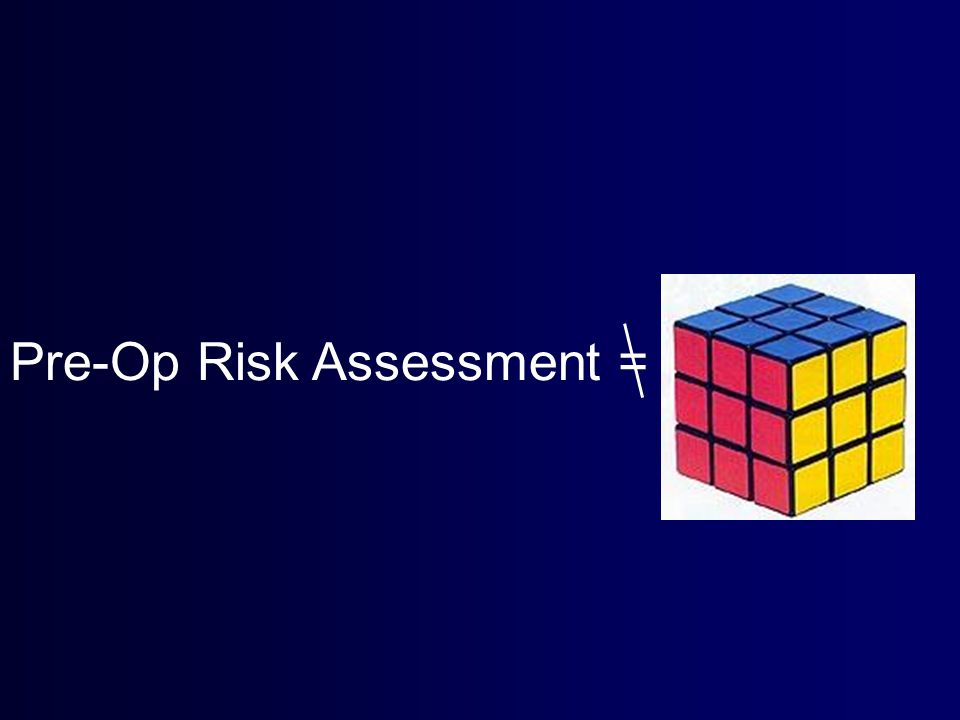 Pre-Op Risk Assessment =