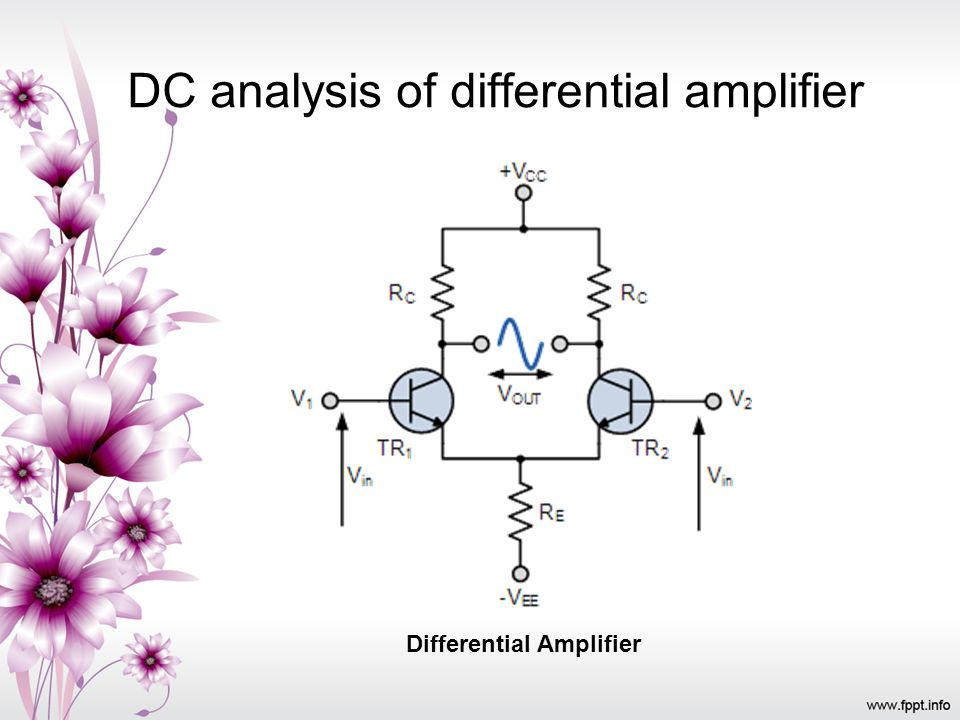 DC analysis of differential amplifier Differential Amplifier