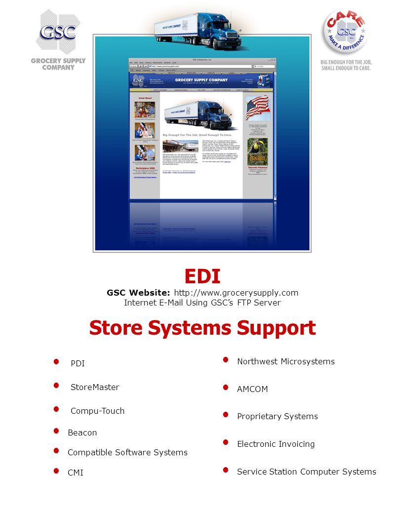 Store Systems Support PDI StoreMaster Compu-Touch Beacon Compatible Software Systems CMI Northwest Microsystems AMCOM Proprietary Systems Electronic I