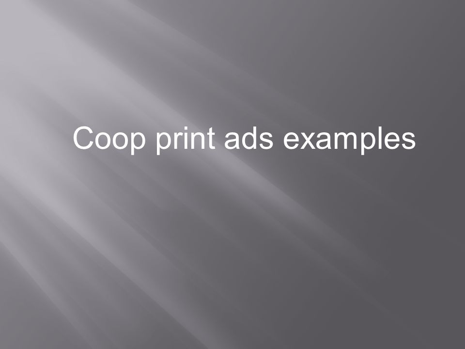 Coop print ads examples