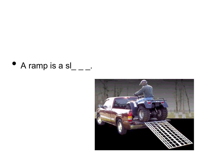 A ramp is a sl_ _ _.