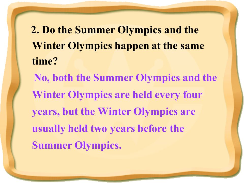 1.When and where were the first Olympic Games in modern times? In 1896 in Greece. Task one