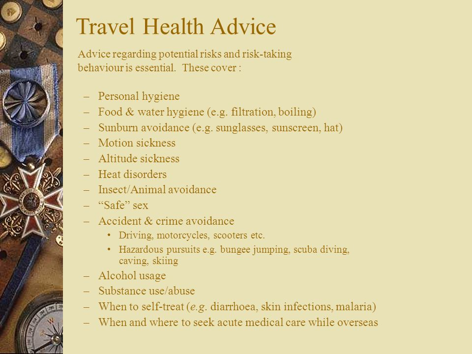 Travel Health Advice