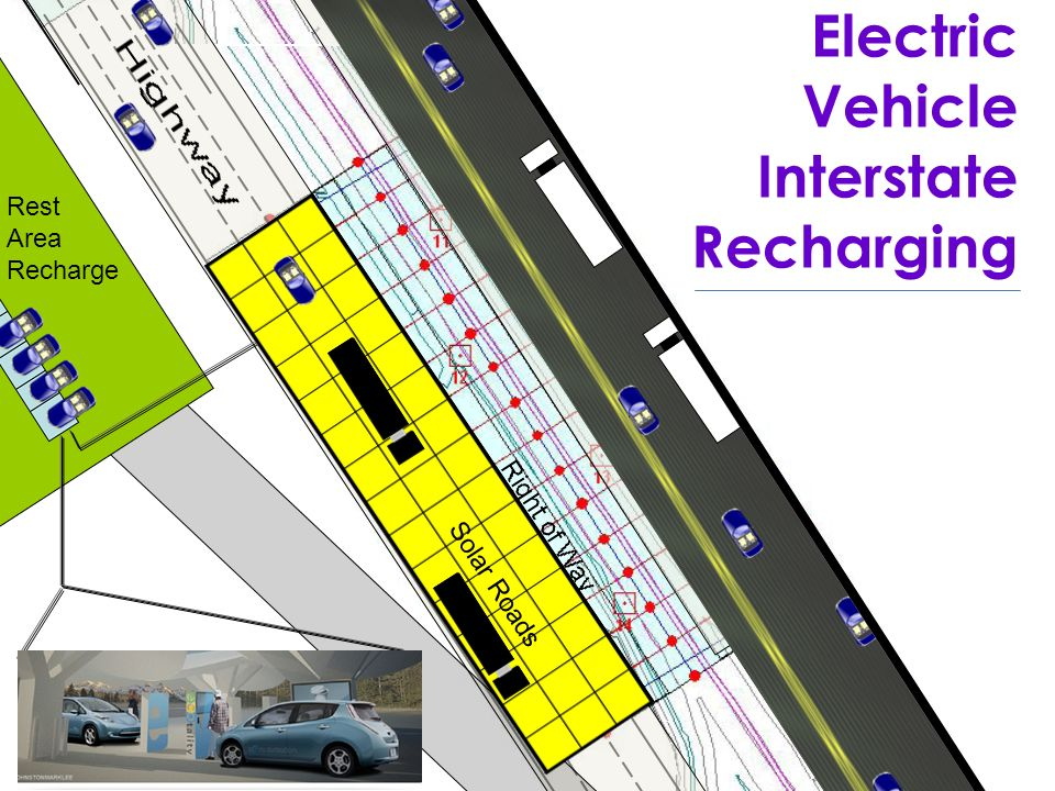 Electric Vehicle Interstate Recharging Rest Area Recharge Solar Roads