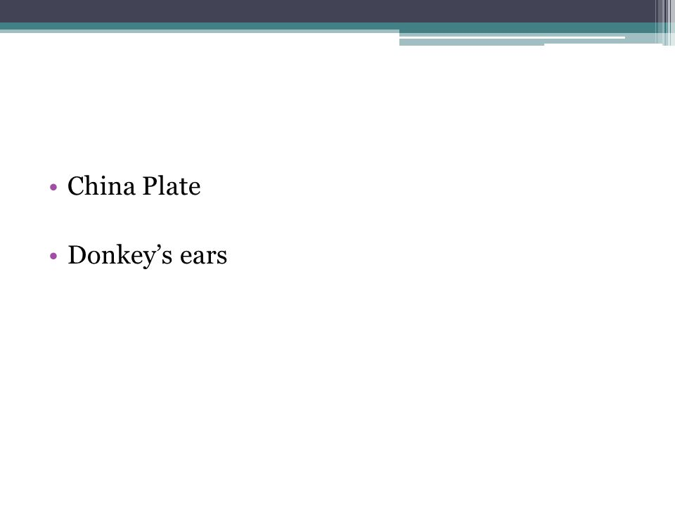 China Plate Donkeys ears