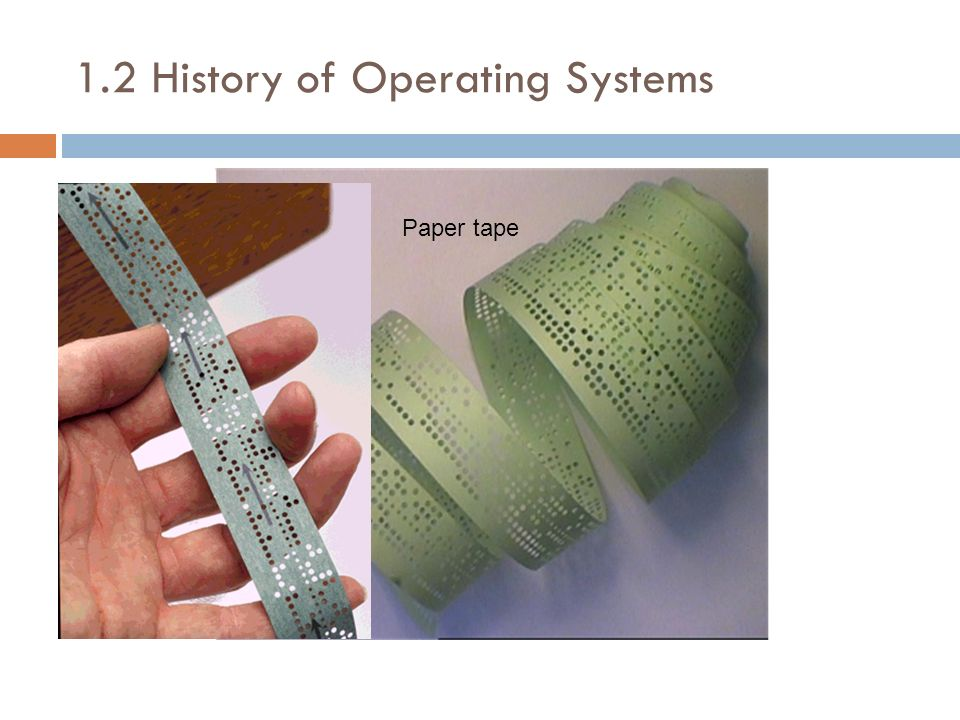 1.2 History of Operating Systems Use of the networks required OSs appropriate for them.