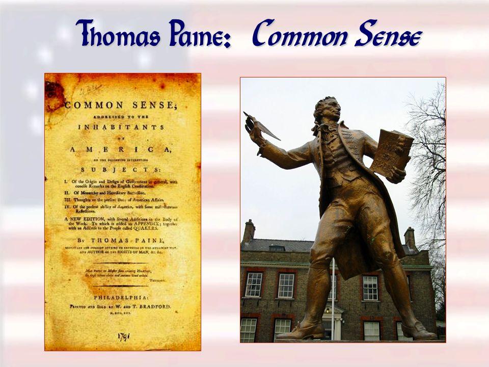 Thomas Paine : Common Sense