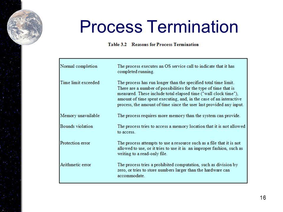 16 Process Termination
