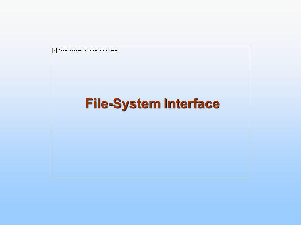 Chapter 10: File-System Interface File Concept Access Methods Directory Structure File-System Mounting File Sharing Protection