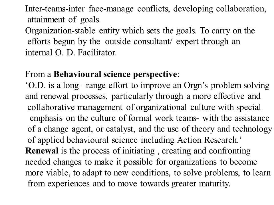 O.D. PROCESS: Diagnosis,Action & Program Management The O.