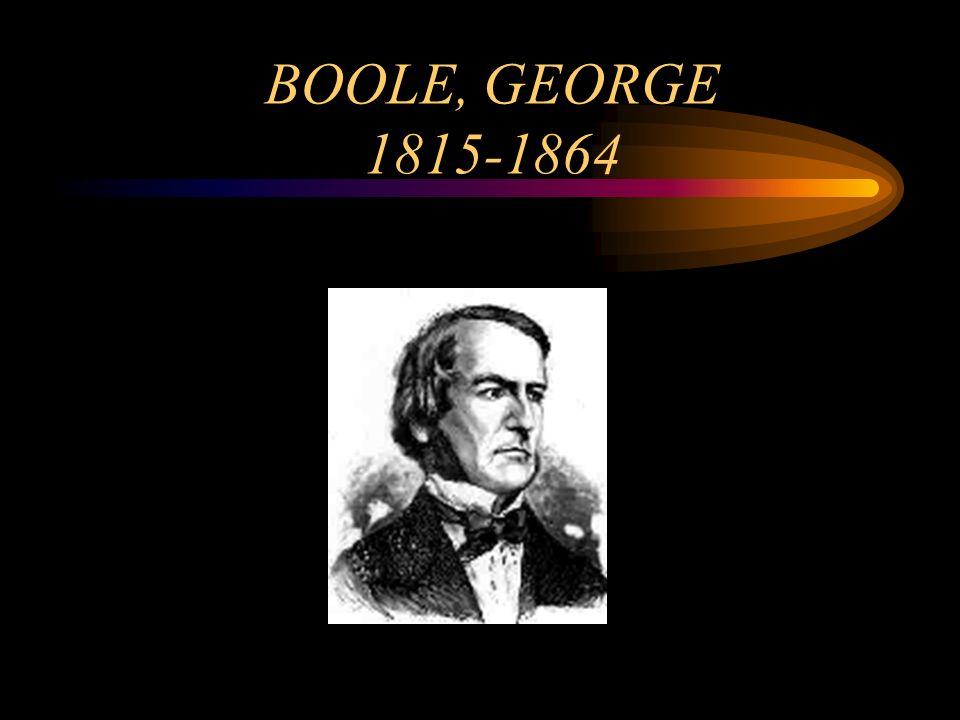 BOOLE, GEORGE 1815-1864