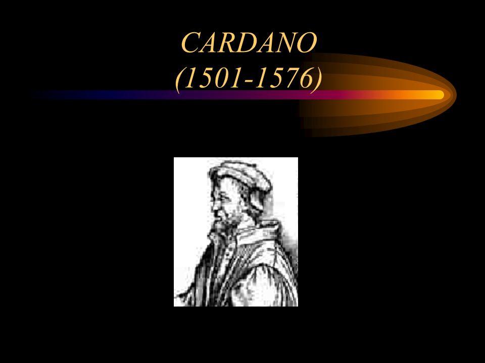 CARDANO (1501-1576)