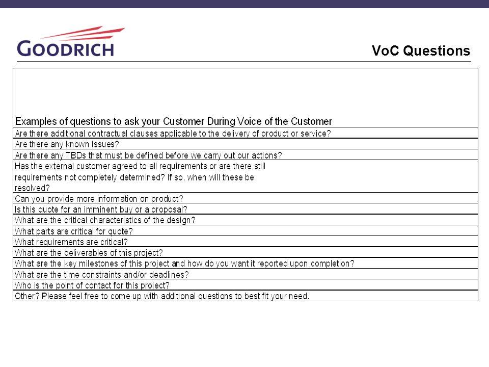 VoC Questions