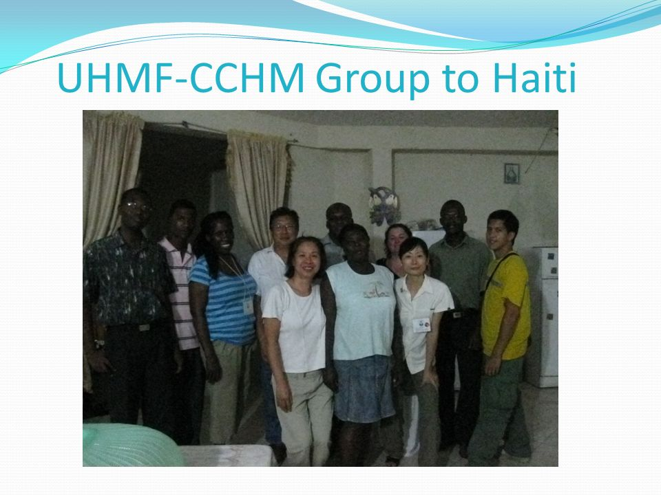 UHMF-CCHM Group to Haiti