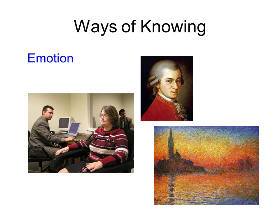 Ways of Knowing Emotion