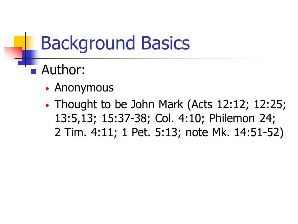 1 1.Johns baptism 2. People come to John 3. Jesus comes to John 4.