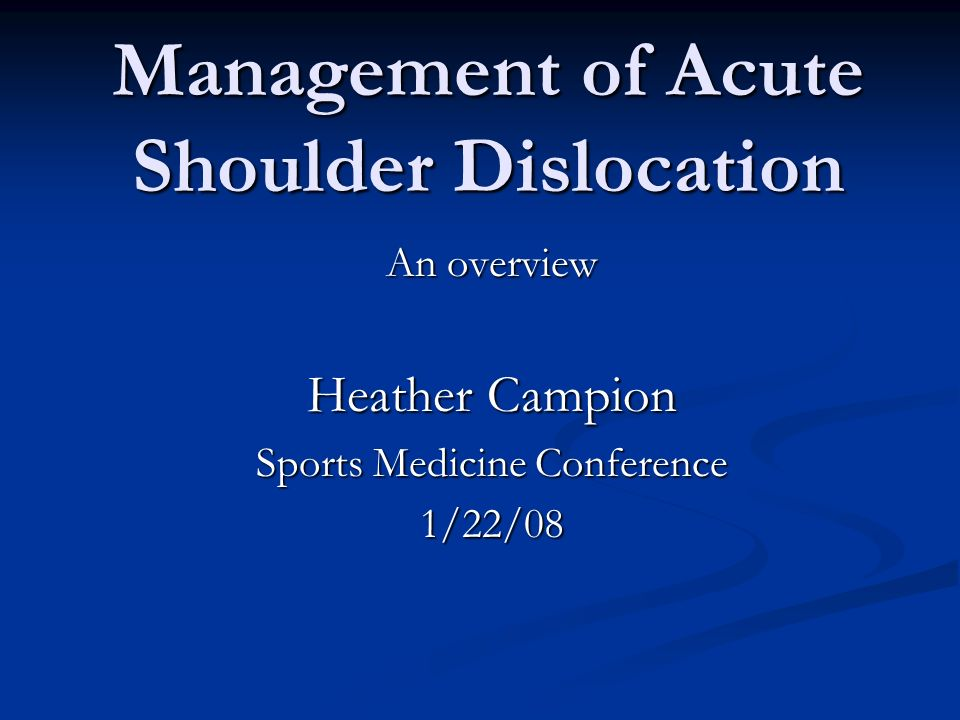 Incidence Shoulder is the most commonly dislocated joint Shoulder is the most commonly dislocated joint Traumatic Dislocations Traumatic Dislocations Anterior 96% Anterior 96% Posterior 2-4% Posterior 2-4% Diverse group of patients experience dislocations; Diverse group of patients experience dislocations; M and F M and F young and old young and old active and inactive active and inactive