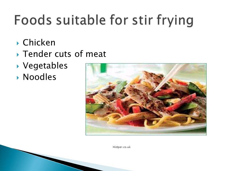 Chicken Tender cuts of meat Vegetables Noodles Histper.co.uk