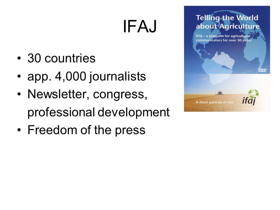 IFAJ 30 countries app.