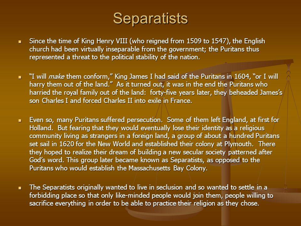 Church Churches were at the center of Puritan society.