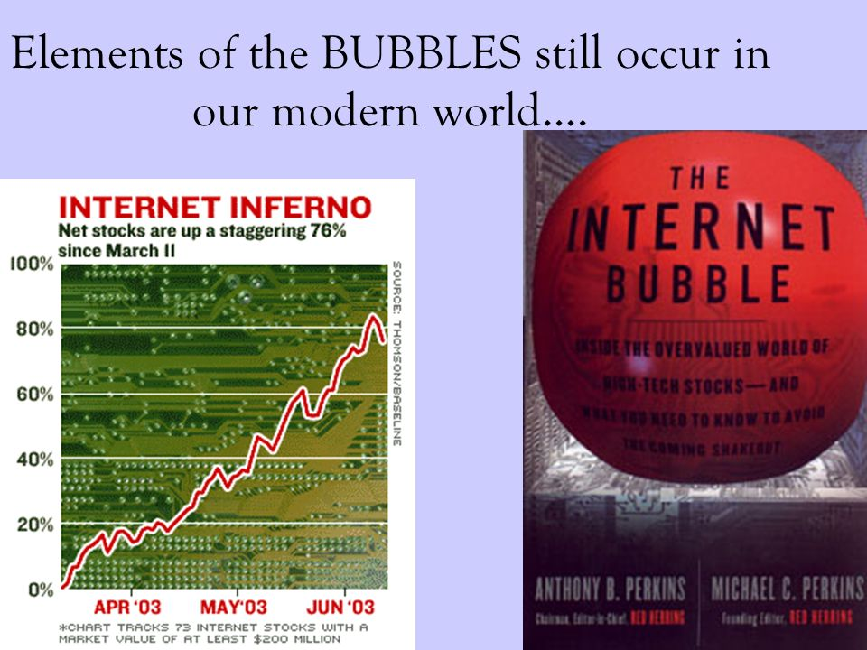 Elements of the BUBBLES still occur in our modern world….