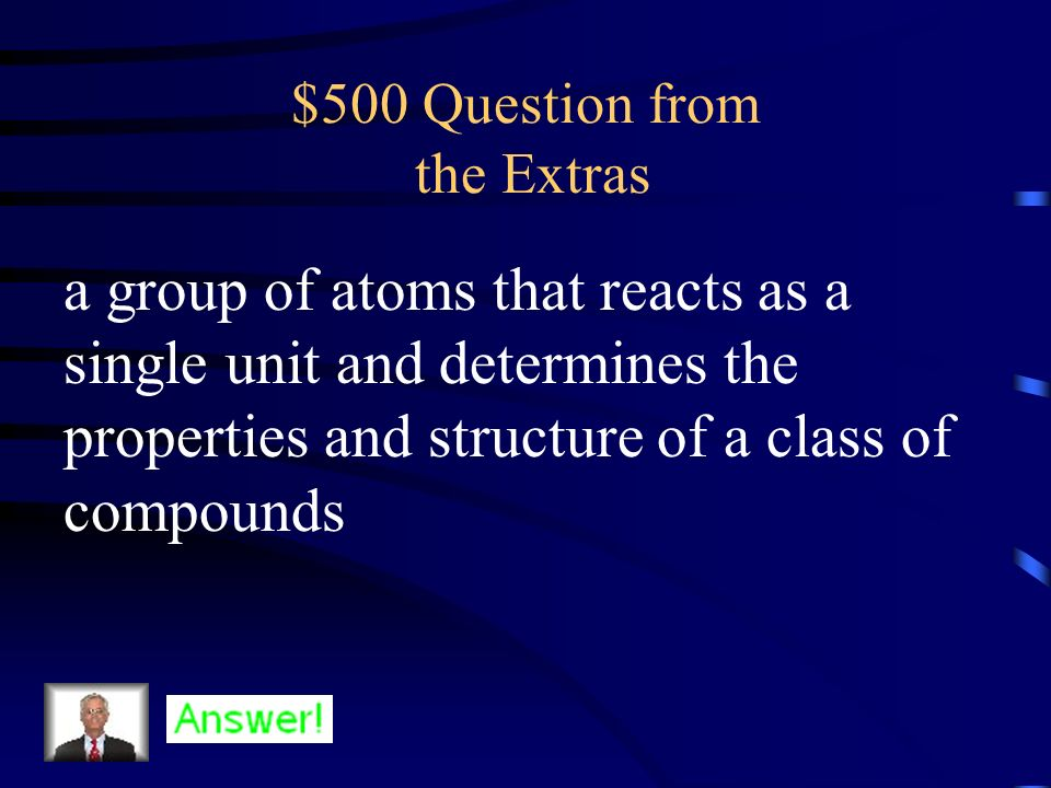 $400 Answer from the Extras What is a carbohydrate