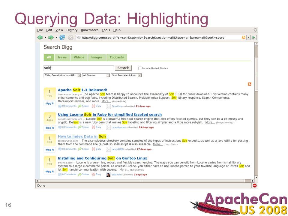 16 Querying Data: Highlighting