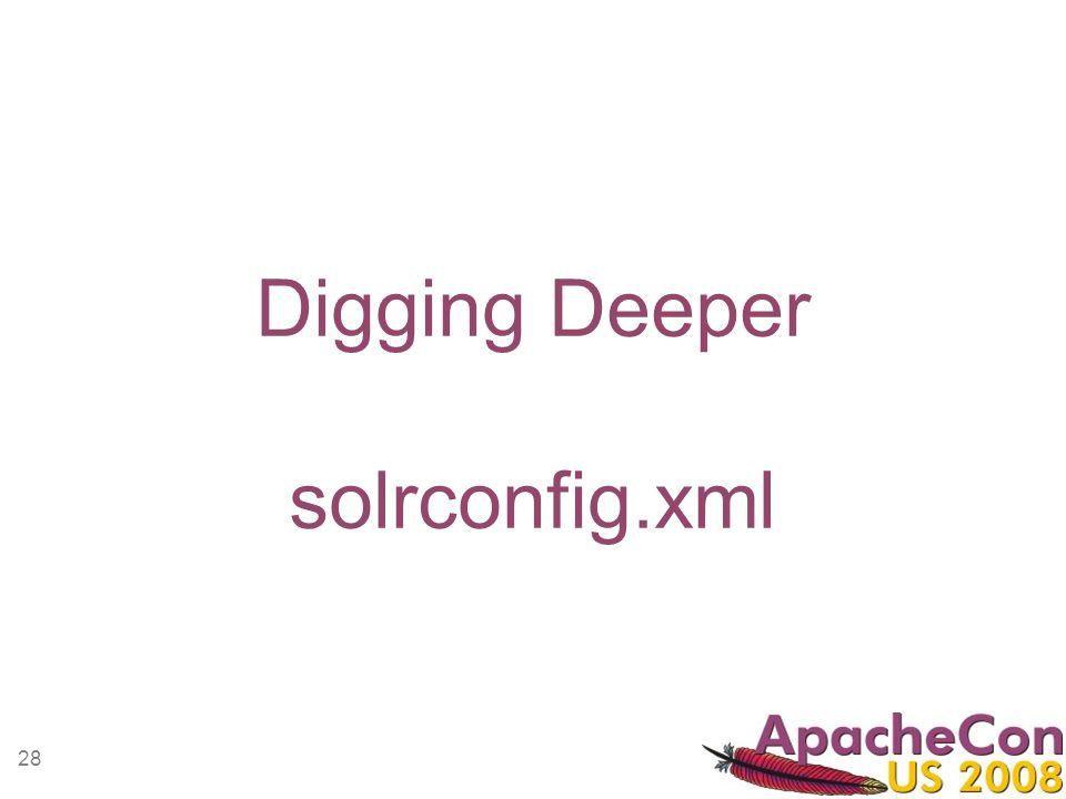28 Digging Deeper solrconfig.xml