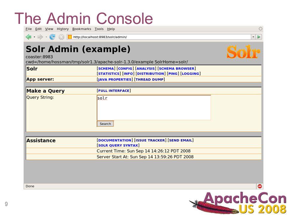 9 The Admin Console