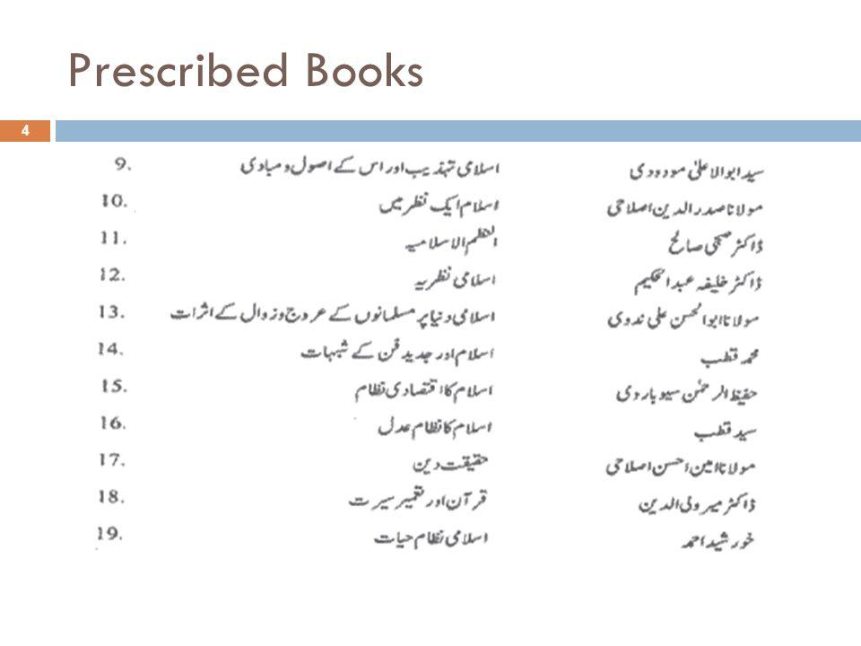 Prescribed Books 4