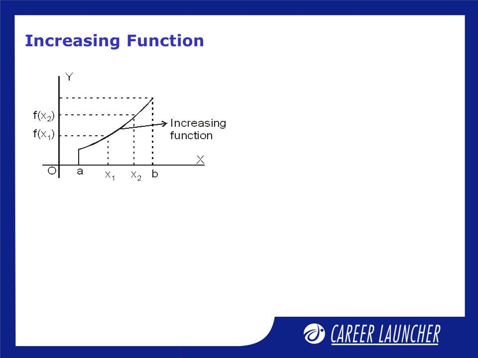Increasing Function