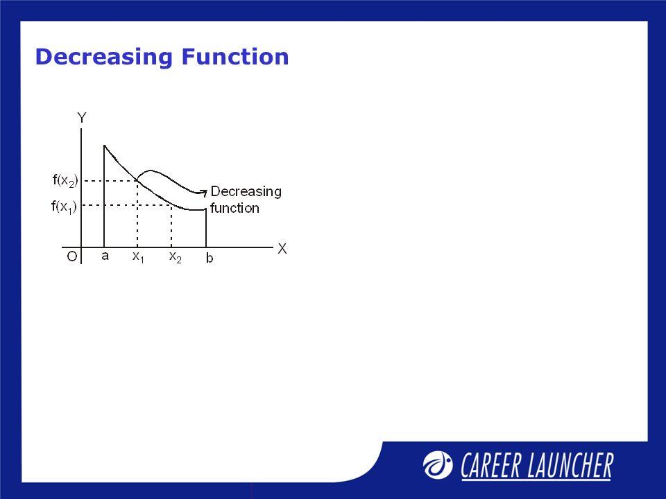Decreasing Function