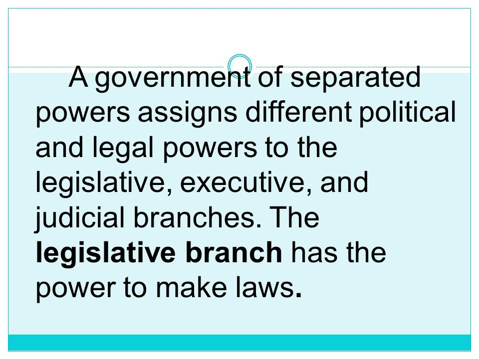 Separation of Powers, the doctrine and practi ce of dividing the powers of a government among different branches to guard against abuse of authority.