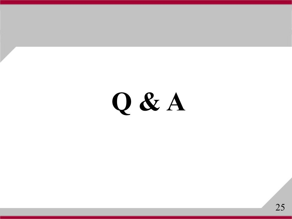 Q & A 25