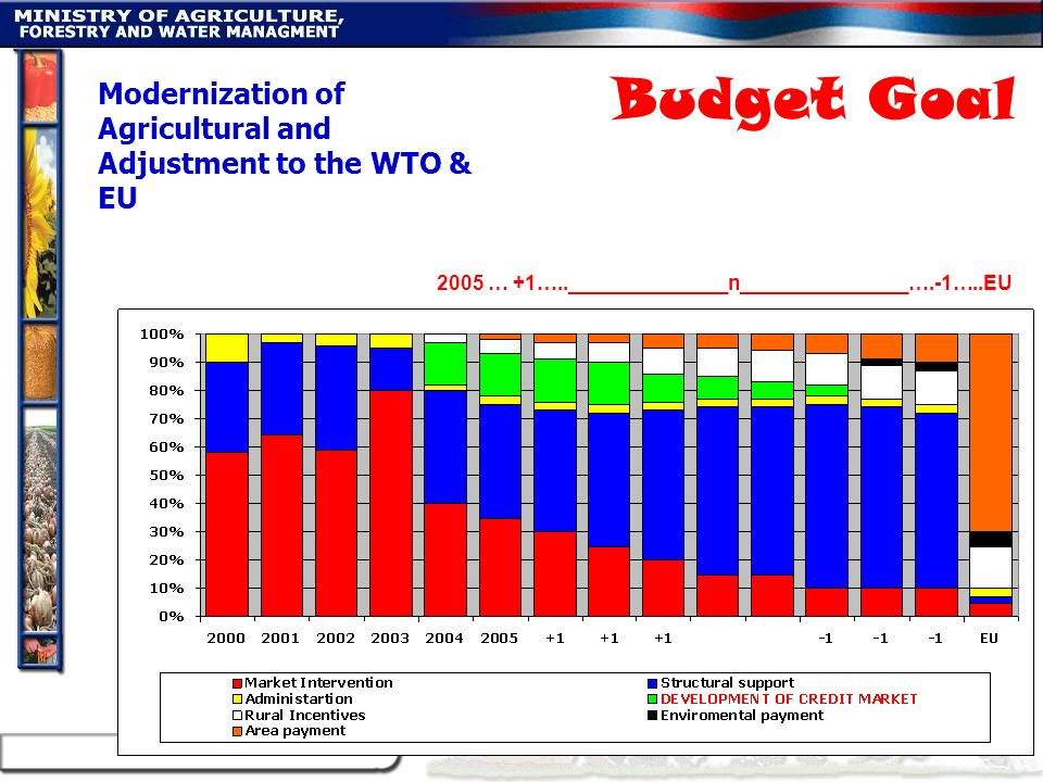2005 … +1…..______________n_______________….-1…..EU Modernization of Agricultural and Adjustment to the WTO & EU Budget Goal