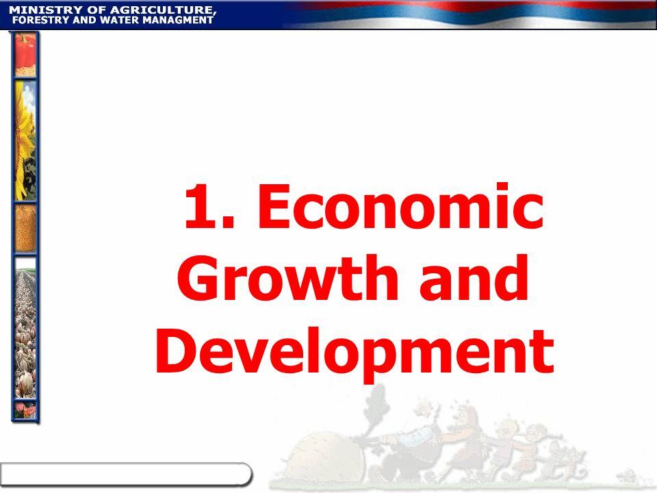 1. Economic Growth and Development