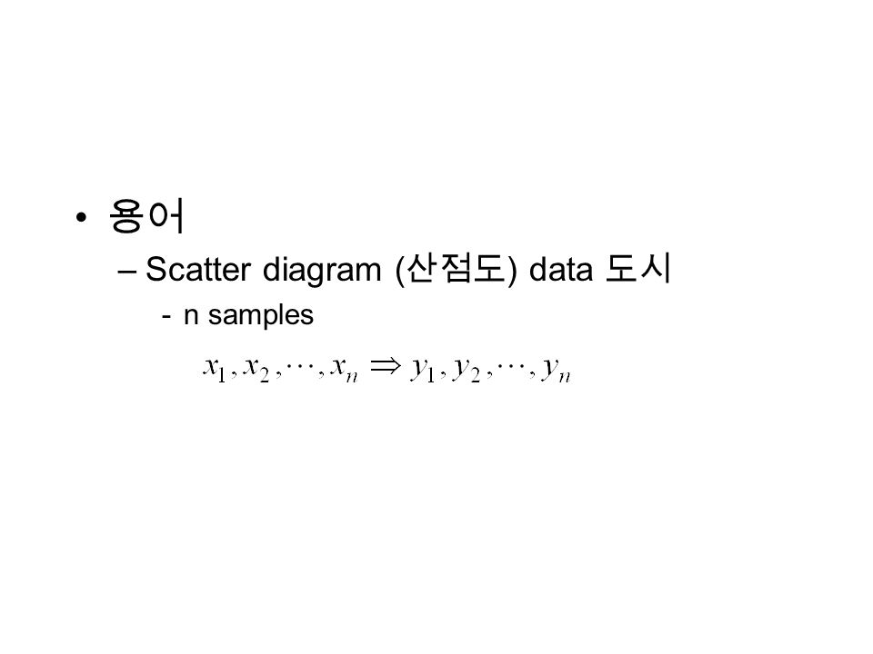 –Scatter diagram ( ) data -n samples
